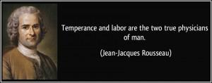 rousseau temperance